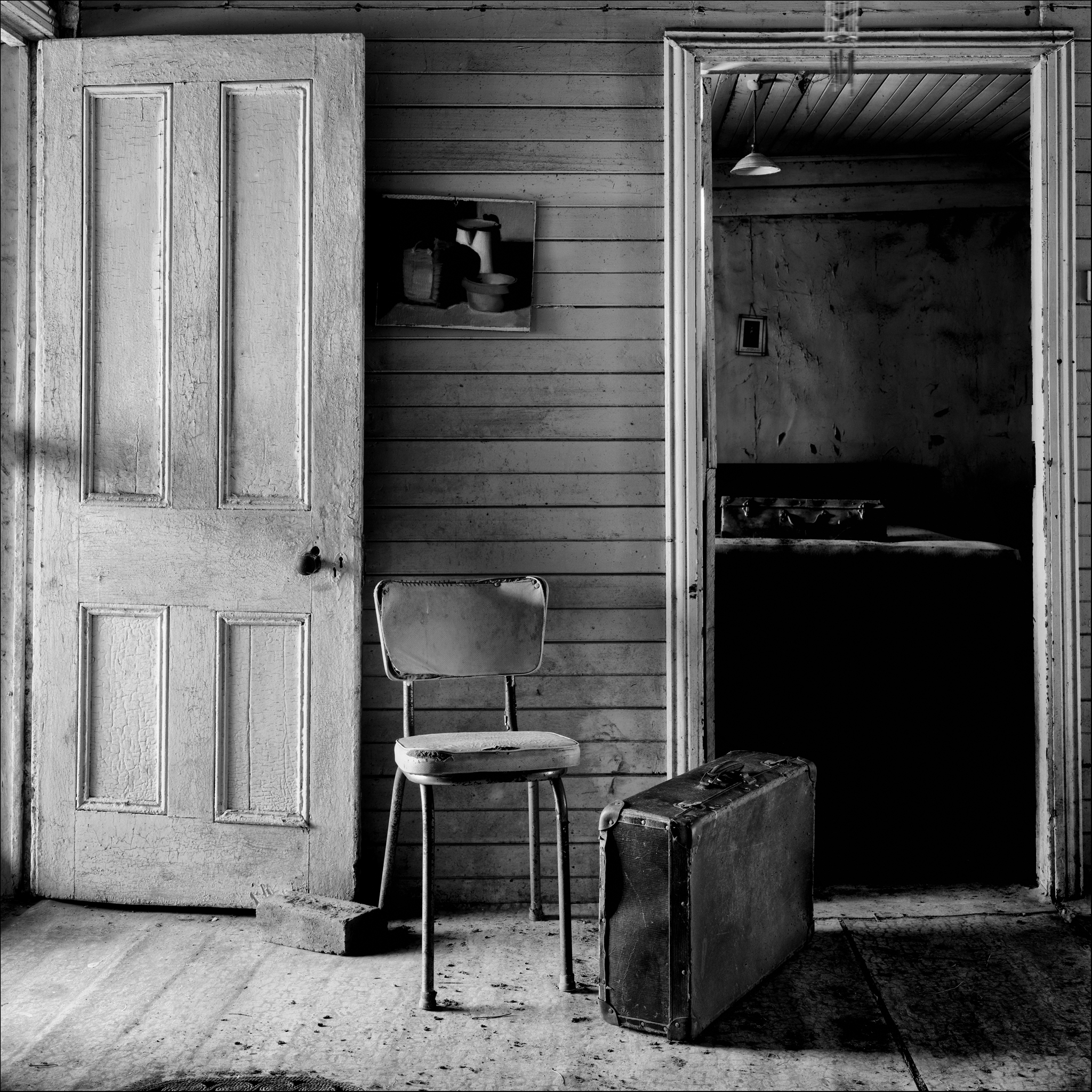 Black and white chair photography - Rustic Buildings In Australia Prints For Sale