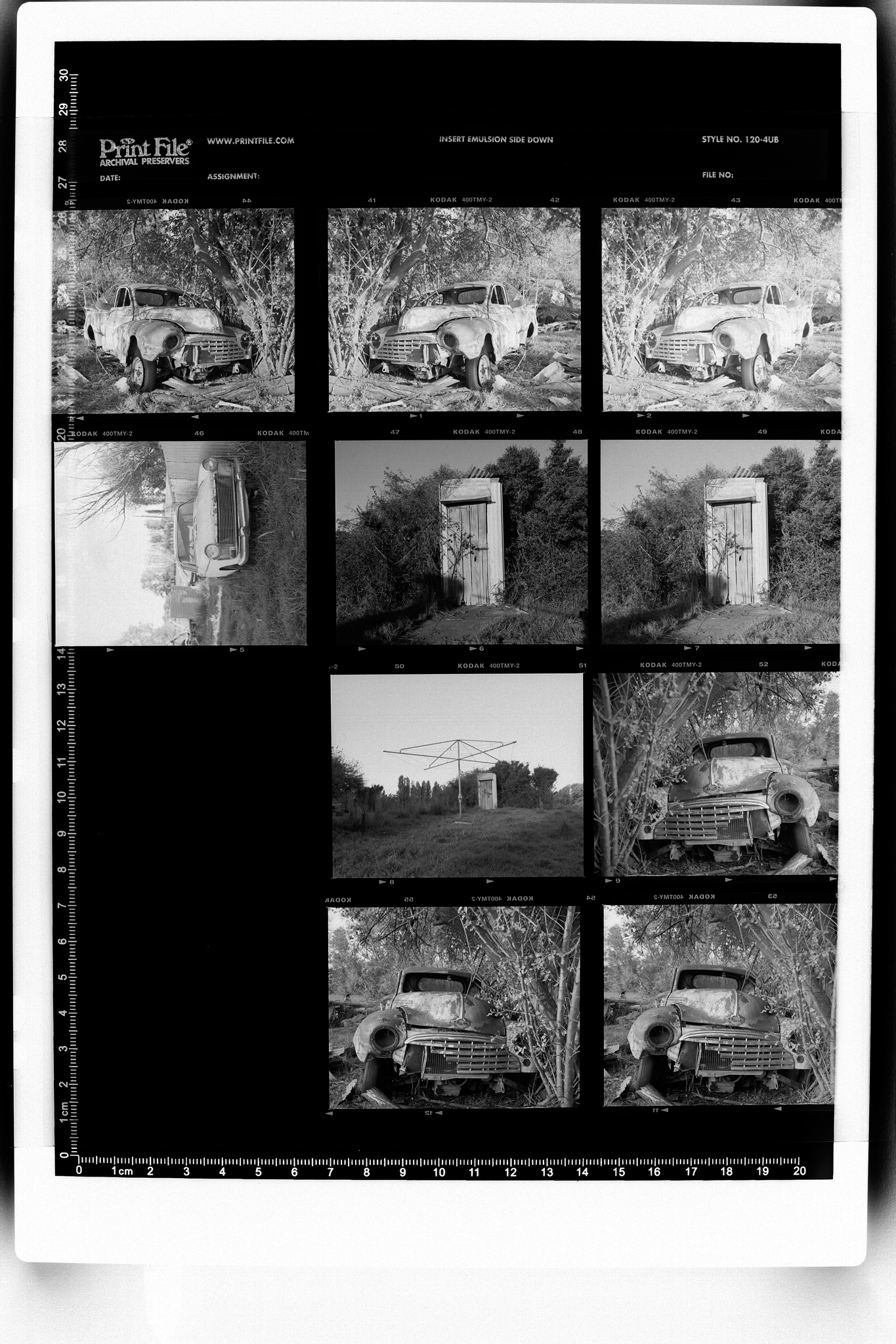 Contact print test